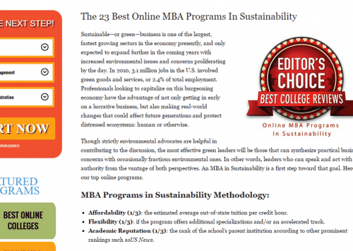 EUCLID MBA SUSTAINABLE DEVELOPMENT PROGRAM RANKED #1 BY LEADING UNIVERSITY REVIEW SITE