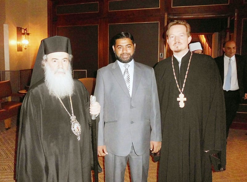 Patriarch-Theophilos-with-Syed-Zahid-Ali-and-Laurent-Cleenewerck-800